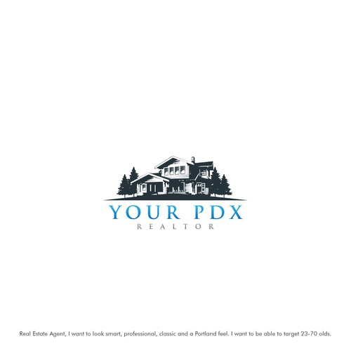 classic logo for your pdx realtor