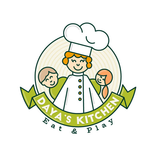 Family friendly restaurant logo concept