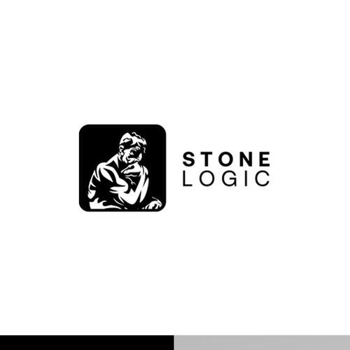 Thinking Man Logo for Stone Logic