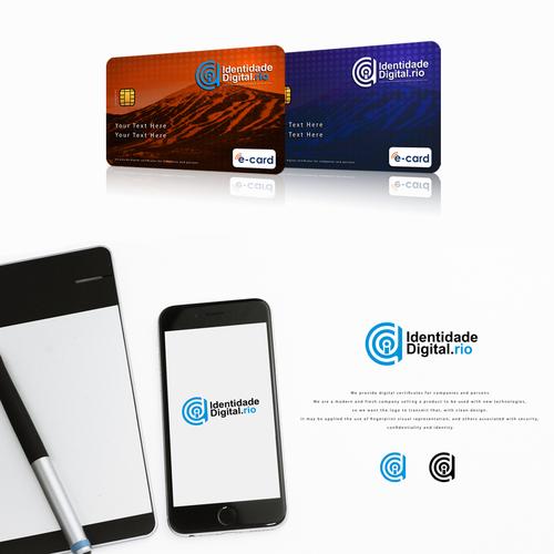 clean and modern futuristic logo design
