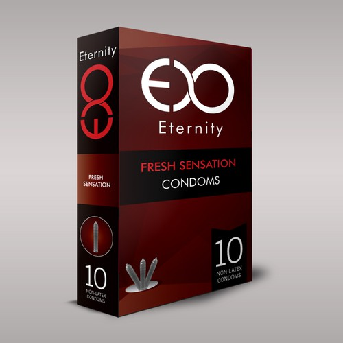 CONDOM packaging for Eternity CONDOMS or Anaconda Condom