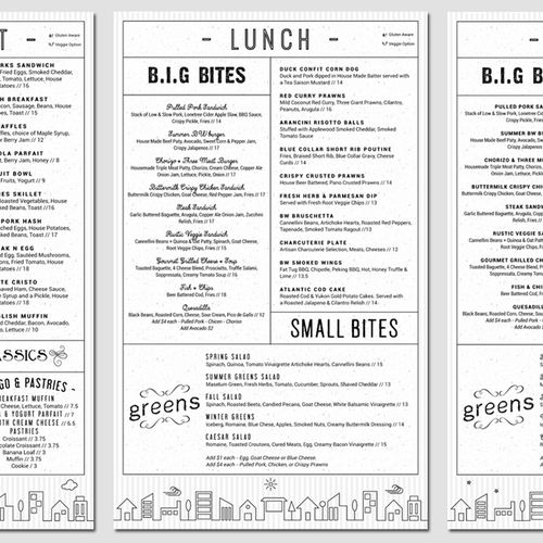 Menu Series for Brickworks