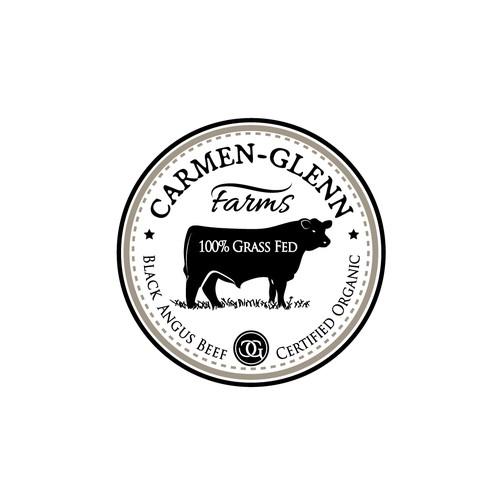 Logo for organic 100% grass fed Black Angus Beef