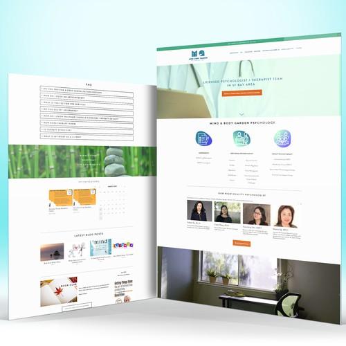 Mind & Body Psychology Website Design