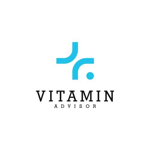 Medical logo concept for VITAMIN ADVISOR company