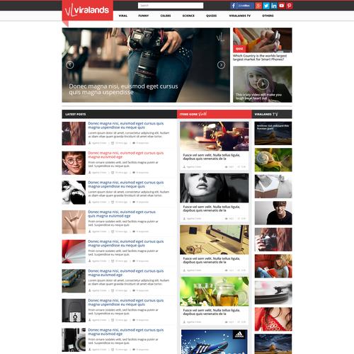 Web page design for Viralands