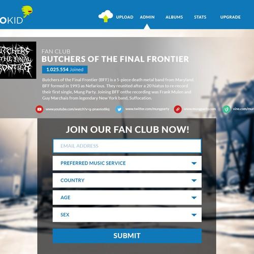 Landing Page: DISTROKID