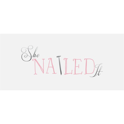 Create a cute nail-head logo for a new fashion blog