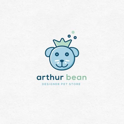 Logo concept for a designer pet store