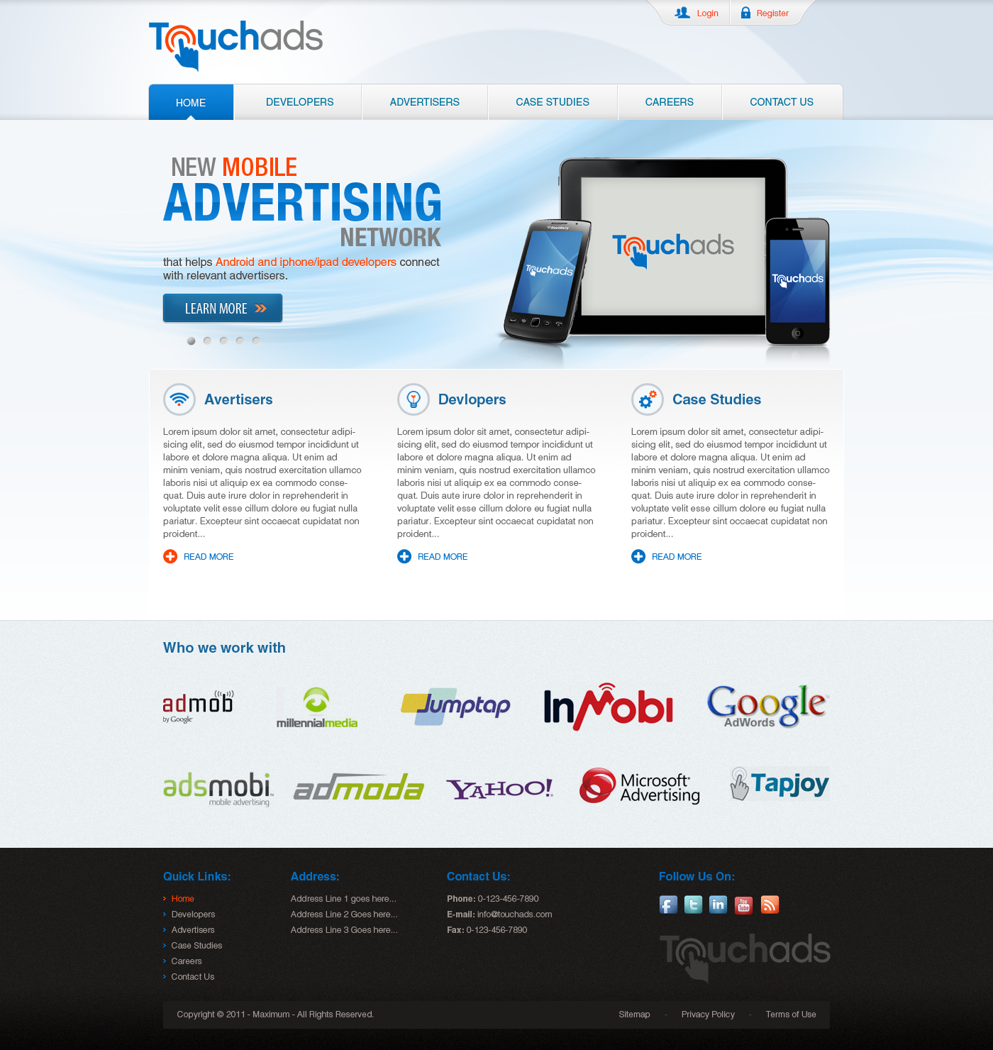 ** Guaranteed Prize: Website Design for Touchads.com **