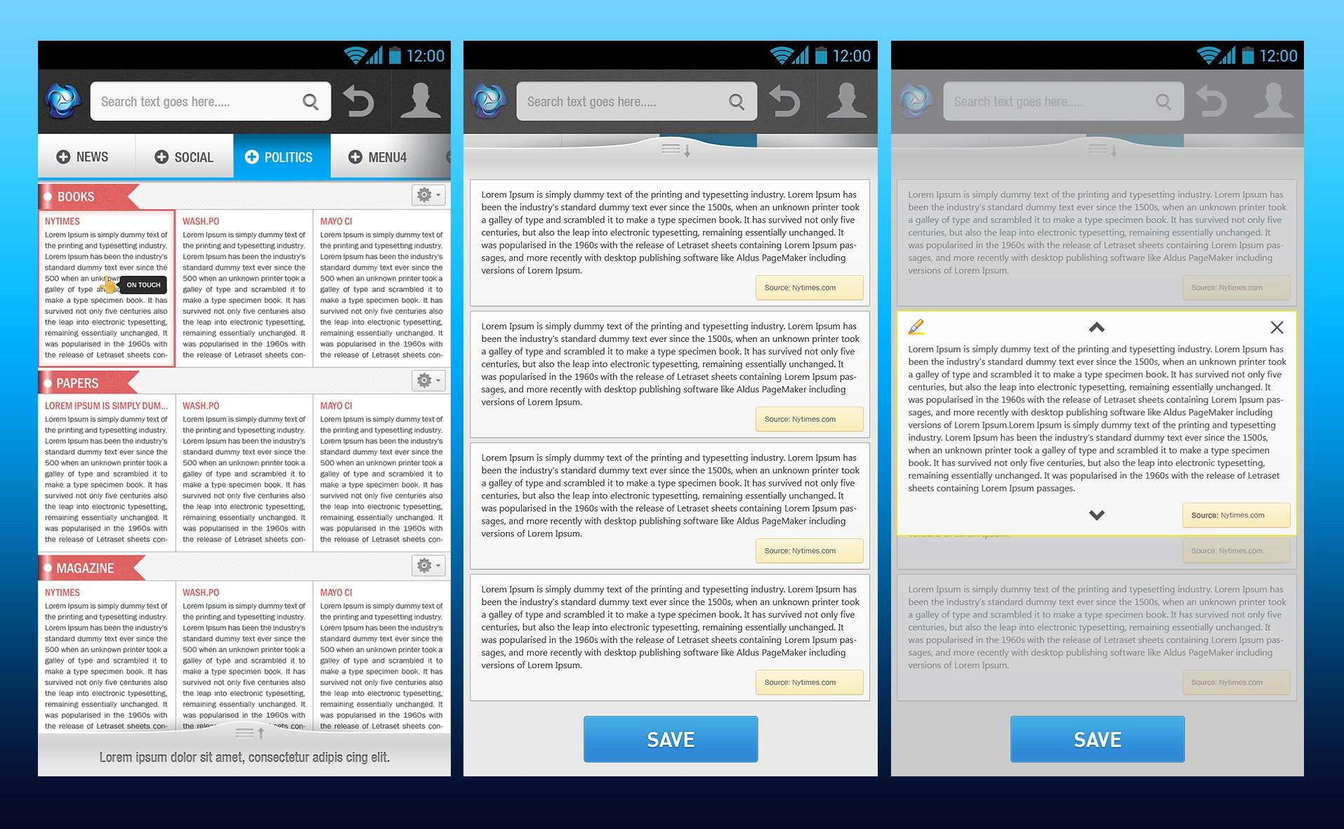 Design a novel mobile search interface (*Guaranteed Award*)