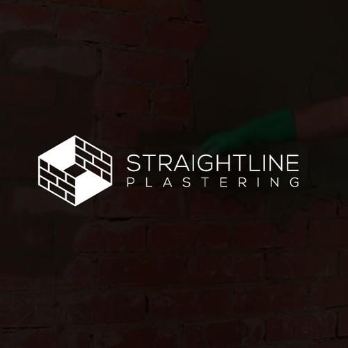 Straight Line Plastering Logo