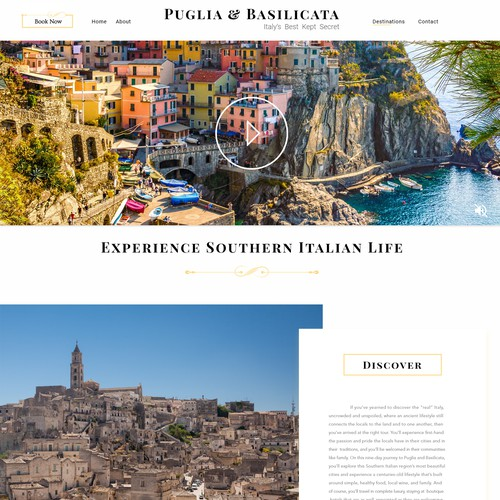 Luxury Travel Tour Landing Page