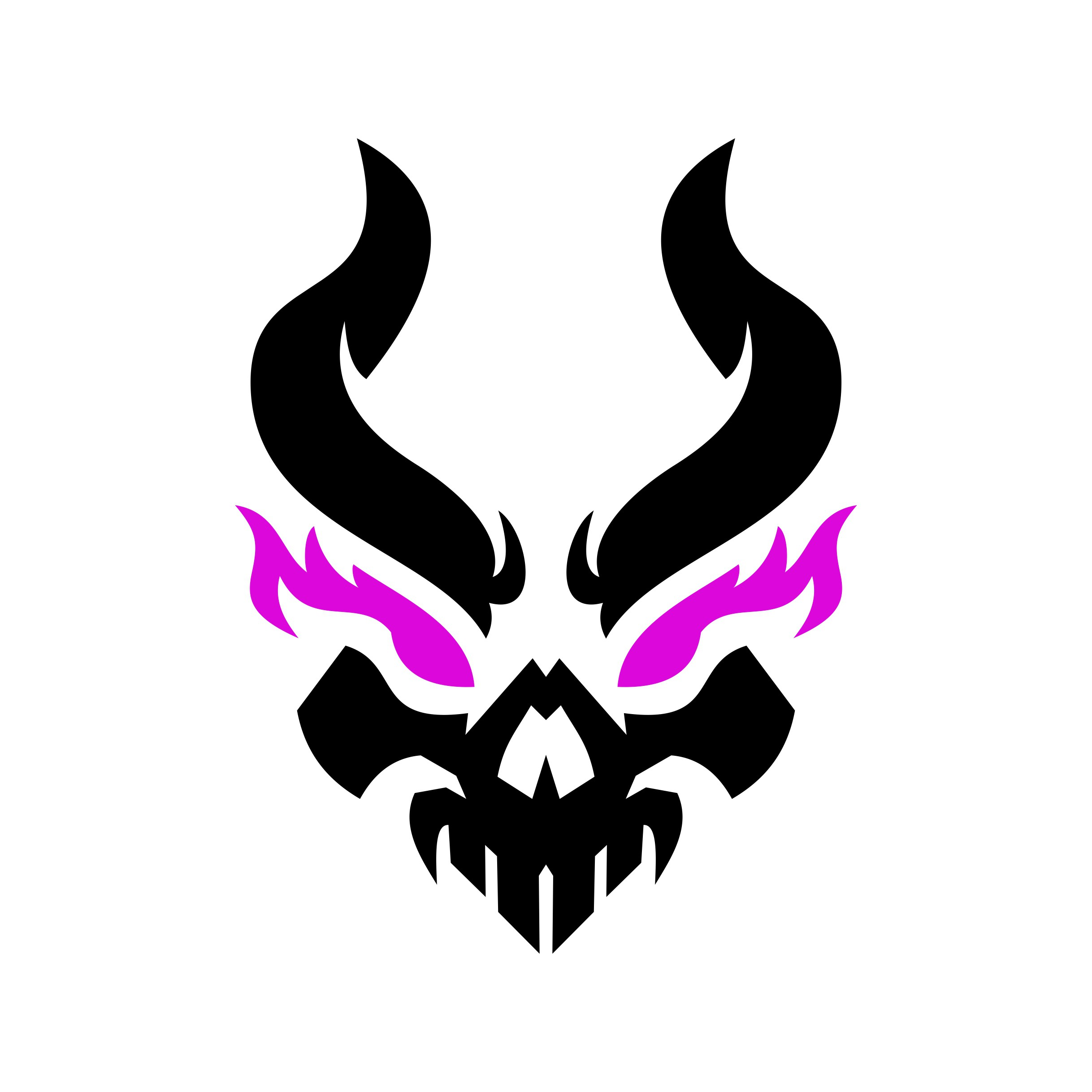 Demon logo for fitness brand.