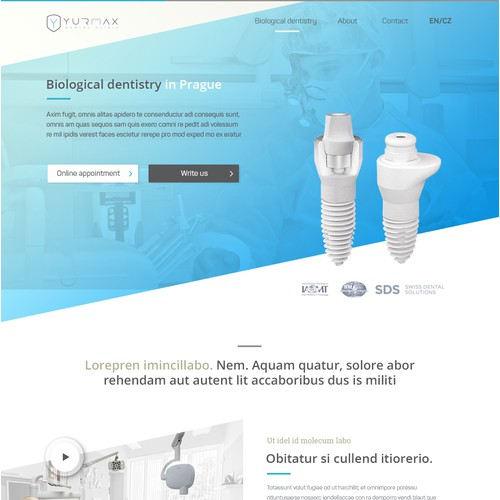 Wep Responsive Design for Dental Clinic