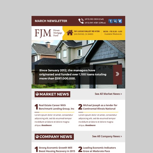 Newsletter concept for Mortgage