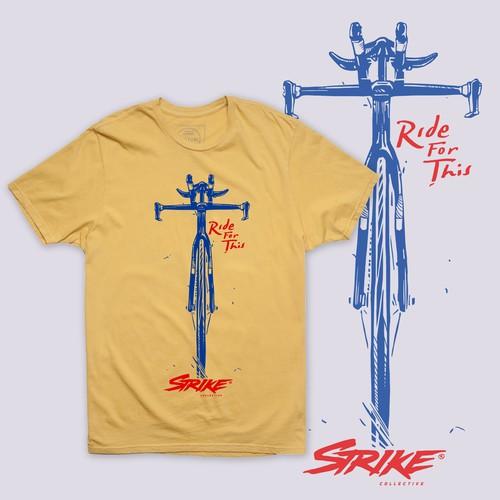 STIKE - Raw Line Style Bicycle Illustration.