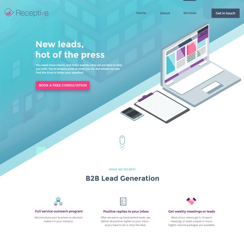 UI design for marketing agency