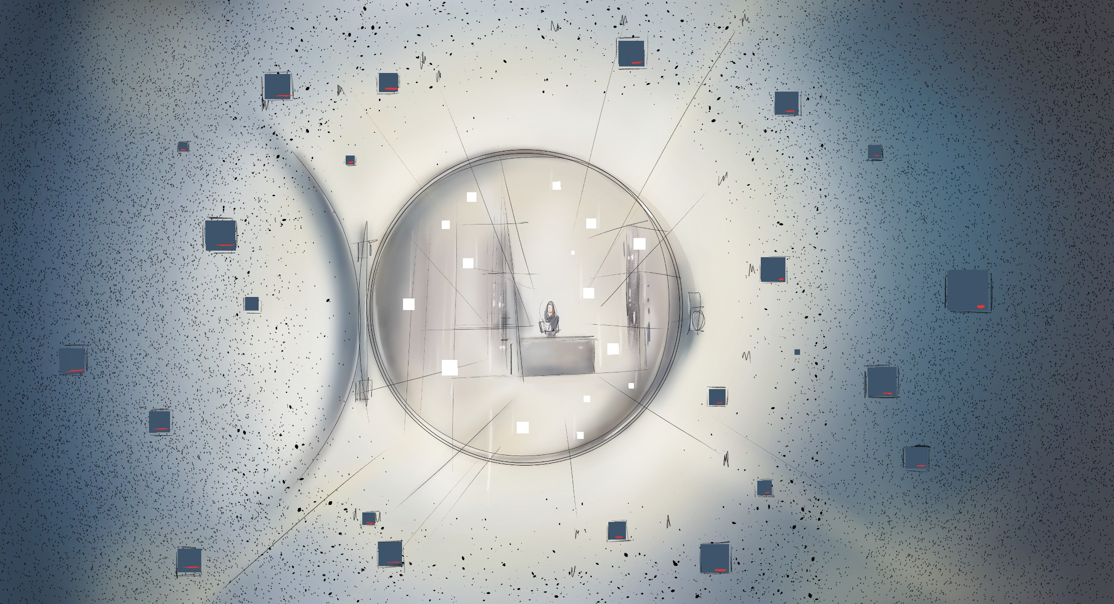 Design an awe inspiring , massive, fortified, virtual reality document vault.