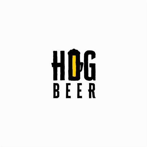 Logo Design for Hog Beer