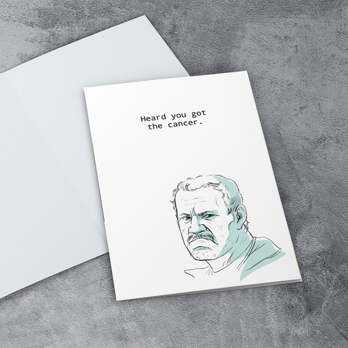coach illustration for card design