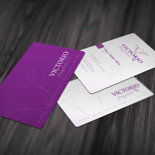 logo and business card for Victorio Angeloti