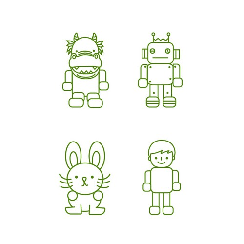 kid-friendly character set