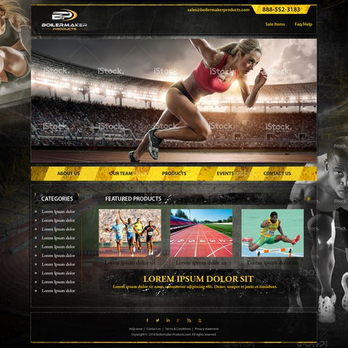 Custom WordPress Themed website for a sports equipment manufactures rep