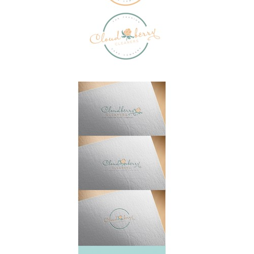 Sophisticated logo for Elegant, upscale garment care company.