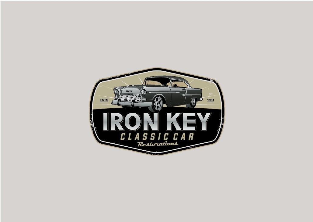 Classic Car Restoration Company Logo - Iron Key Klassics