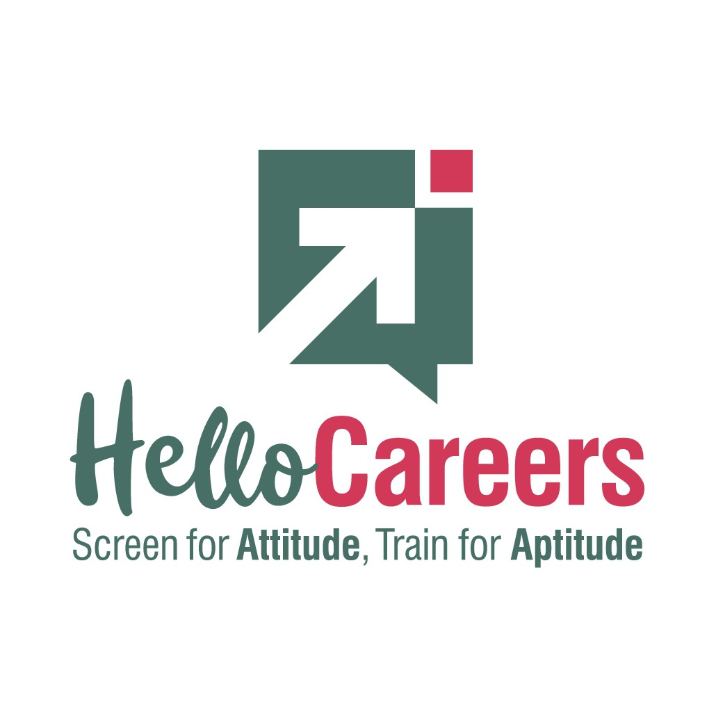 "Logo for ""Hello Careers"".   Education Technology company"