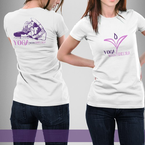 T-shirt design for yoga with CHELSEA