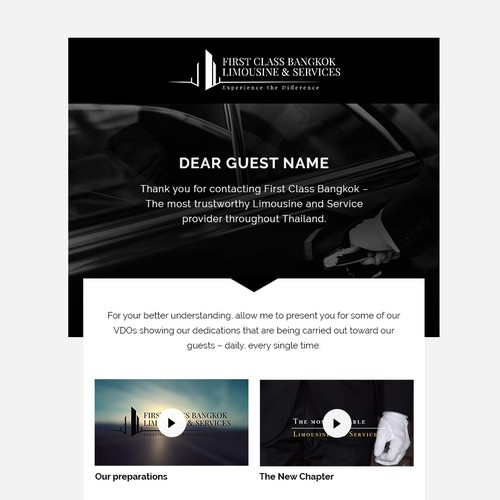 Quotation Email for First Class Bangkok's High-End Customers