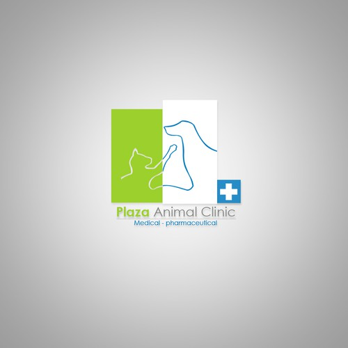 logo for plaza animal clinic