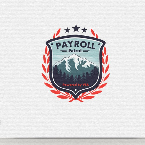 PAYROLL PATROL (the mountain town hero in payroll processing) needs a Badge/Shield logo