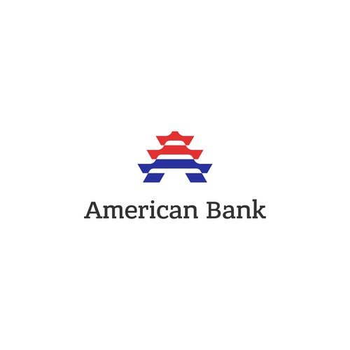 Sophisticated initial logo with american flag
