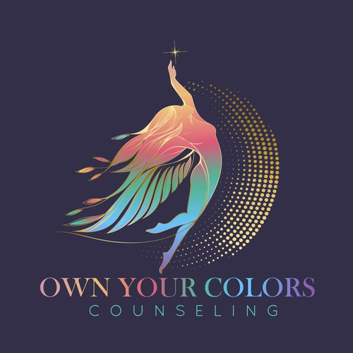 Colorful logo for a holistic embodiment therapist