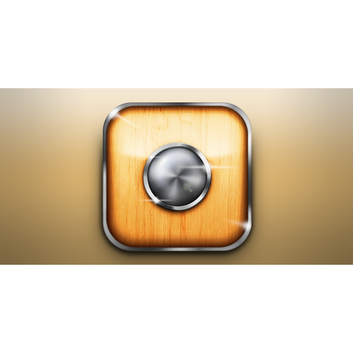 Elegant button icon