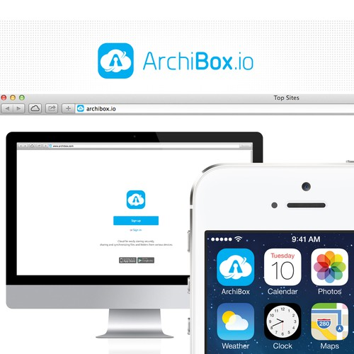 Create a logo for ArchiBox.io : a french enterprise cloud