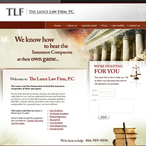 Personal Injury Law Firm Web Site