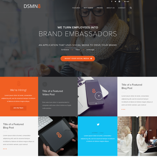 Custom Wordpress Homepage Design