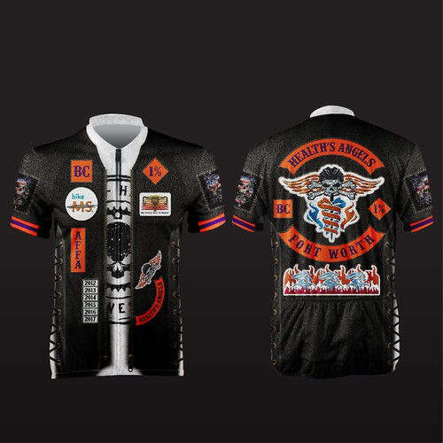 HEALT'S ANGELS cycling jersey
