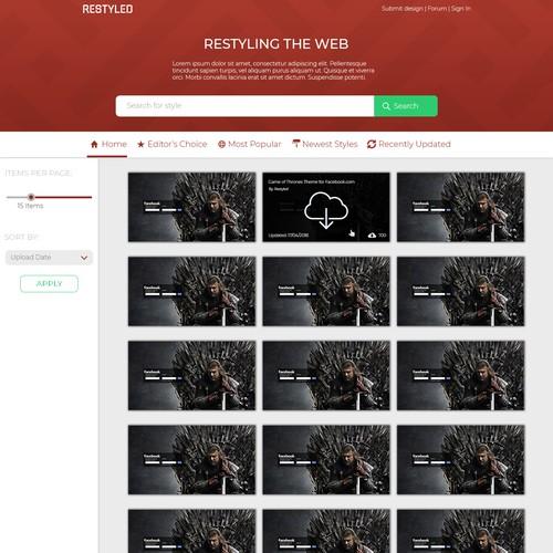 Bright UI Design For A Templates Website.