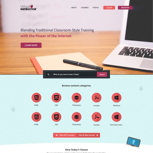 Concept for educational website