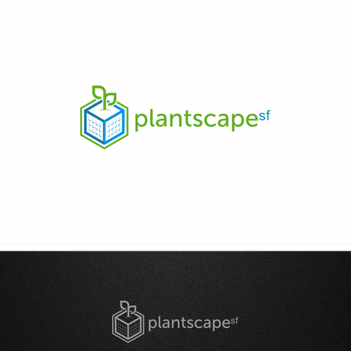 simple logo for plantscape