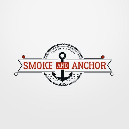 Smoke and Anchor Floating Restaurant Logo