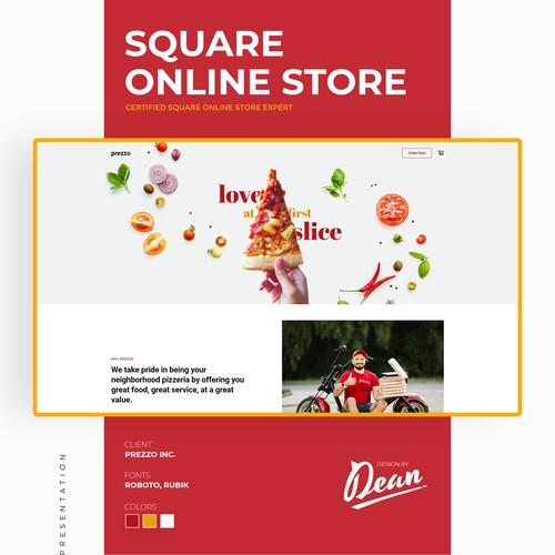 Square online store for a quick-serve restaurant