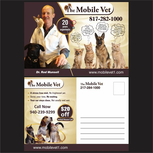 New postcard or flyer wanted for The Mobile Vet