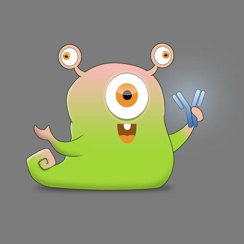 cute alien mascot