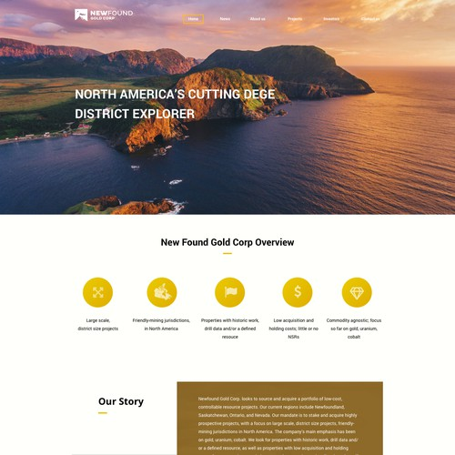 Website for gold mining company